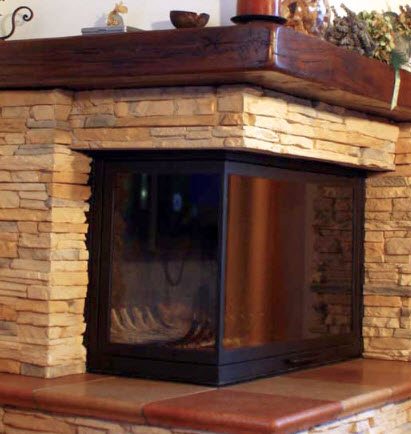 Masonry heater dome ek pinterest for Camini rivestiti in pietra immagini