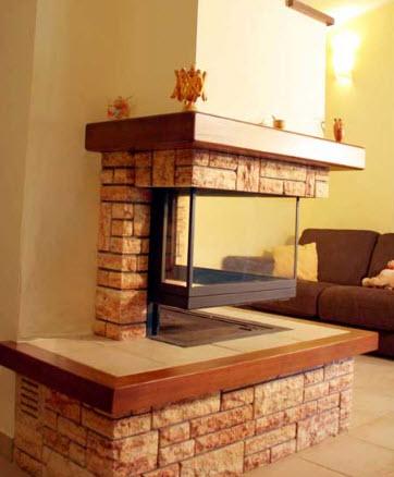 Caminetti ad angolo caminetto ad angolo con pietra antica for Costruire un camino d angolo