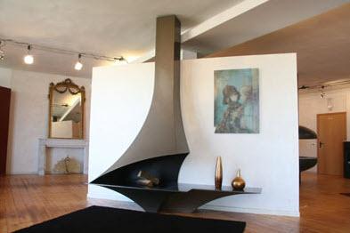 Camini angolo moderni modelli design idee per il design for Caminetto ad angolo contemporaneo