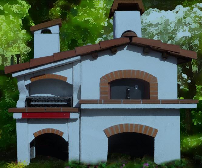 Casa immobiliare accessori forni da esterno in muratura - Forno per pizza da giardino ...
