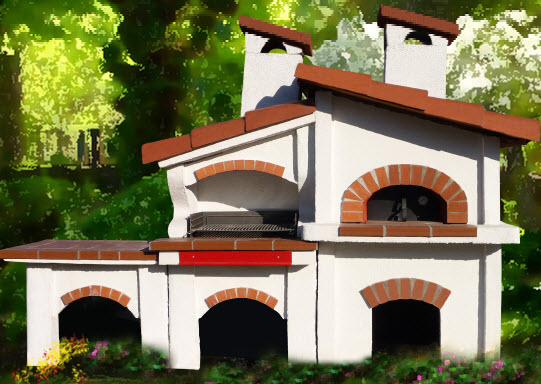 Forno e barbecue - Forno barbecue muratura esterno ...
