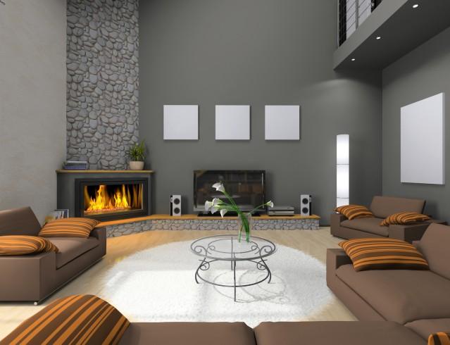 Caminetti Moderni Ad Angolo : Il camino angolare per un angolo di relax e conversazione