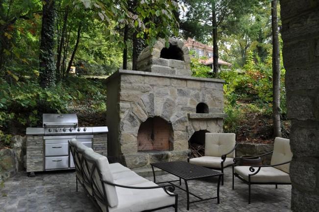 Caminetti per giardino ve03 regardsdefemmes - Forno per pizza da giardino ...