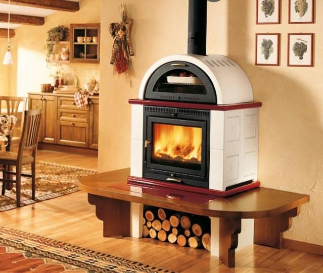 Camino con forno pizza mg53 regardsdefemmes - Stufe da cucina a legna ...