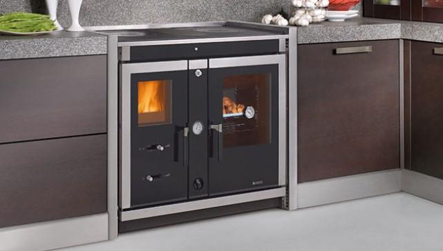 Le cucine a legna in acciaio: un design sofisticato facile da pulire