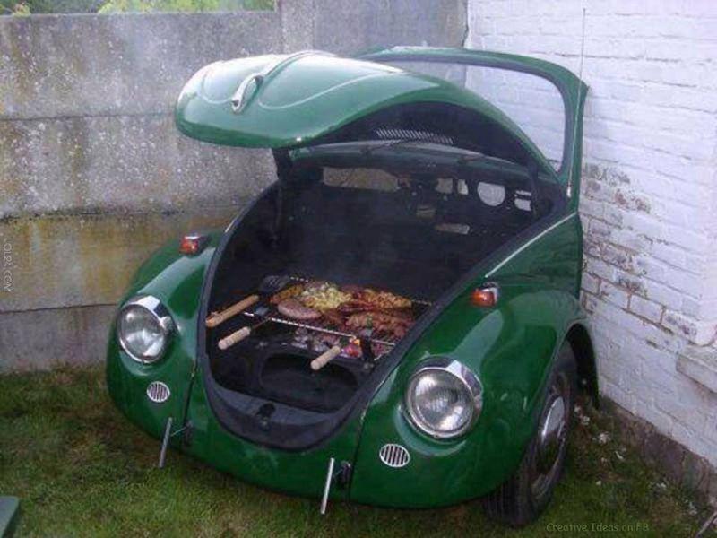 Il Barbecue Piu Strano Del Mondo Nel Cofano Di Un Maggiolone
