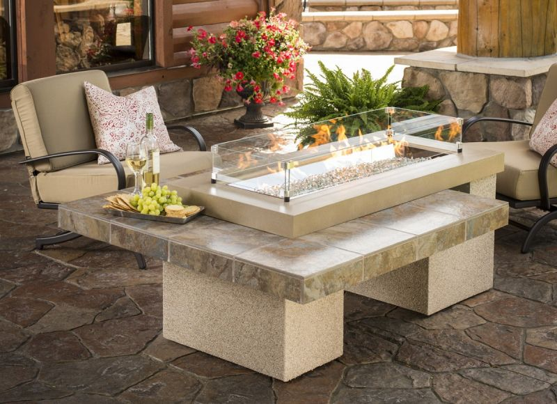 Camino-tavolo Uptown Fire Pit Table by The Outdoor GreatRoom Company