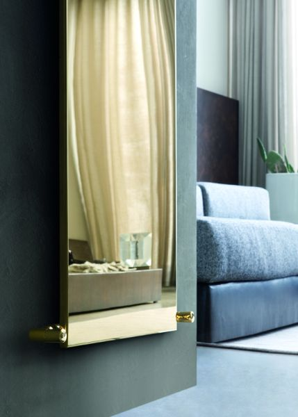 Radiatore Ice Gold Finish Vertical, collezione Fine Design by Caleido