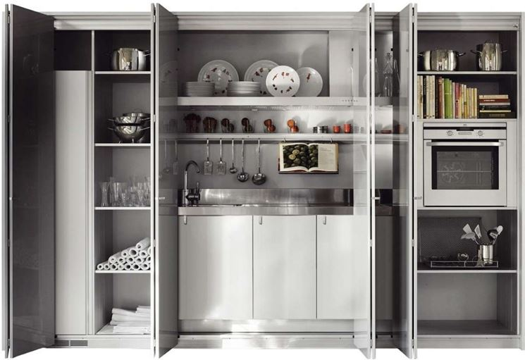 Awesome Cucine Compatte A Scomparsa Contemporary - Ideas & Design ...