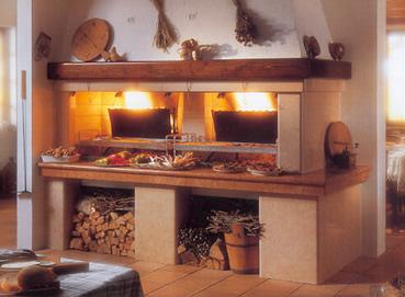 Caminetti per cucinare design casa creativa e mobili - Camino per cucinare ...